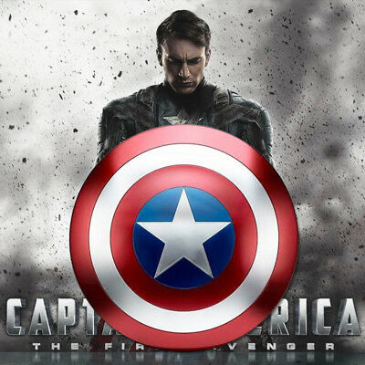 "18.7"" Metal Captain America Shield Wall Hanging Painting Decor Marvel Avengers"