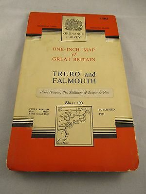 Vintage Ordnance Survey Sheet - Truro & Falmouth - No. 190  dated 1961