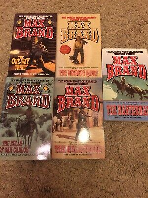 Max Brand 5 Book Western collection C