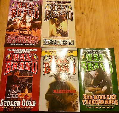 Max Brand 5 Book Western collection.
