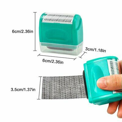ID Protection Roller Stamp Identity Theft Protection Personal Data Secure Hide