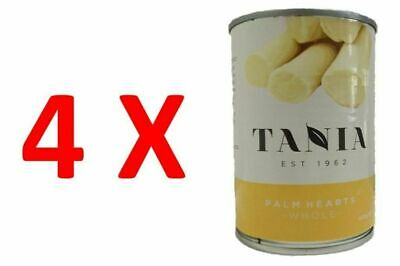 4X Tania Hearts of Palm Palmitos Premium Whole in Tin 400g