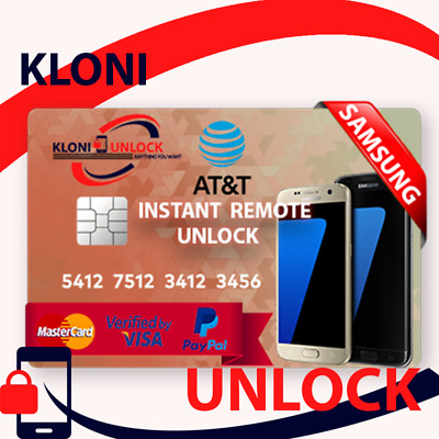 INSTANT REMOTE UNLOCK Code Service For At&t Samsung Galaxy