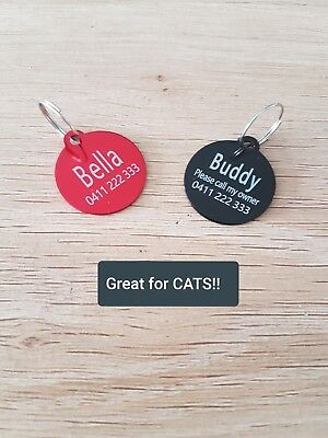 2 for $7.50!!! SMALL ROUND Pet Tag, Cat / Dog ID Tag, FREE Laser Engrave & Post!