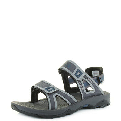 3ce198240 NORTH FACE HEDGEHOG Sandal Mens Black Grey Adjustable Walking ...