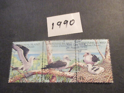 no--4-- 1990  CHRISTMAS  ISLAND  WWF  ABBOTT'S  BOOBY    ISSUES  3  STAMPS-USED