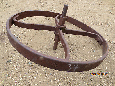 "N0--34---VINTAGE CAST  STEEL  WHEEL   BARROW  WHEEL  -18  "" --1 1/2  "" w"