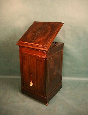Antique Regency Rosewood Music Cabinet c.1820