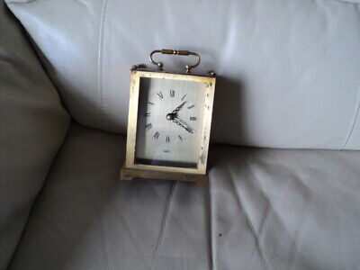 Vintage Nova Quartz Brass Carriage Clock Made in Germany Working