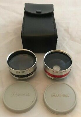 Ricoh Aux. Camera Lens Attachment Set ,Wide Angle Telephoto 1:2.8 4.5cm M42 42mm