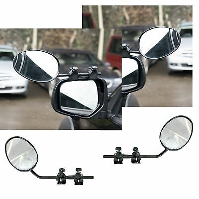 Pair of Convex Caravan Car Extension Towing Mirrors fits Volkswagen VW