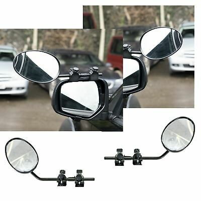 Pair of Convex Caravan Car Extension Towing Mirrors fits Land Rover