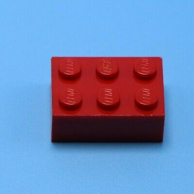 Tile 2 x 3 with Horizontal Angled Clips in Red Brown 4x Lego part no 30350a