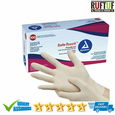 SAFETOUCH Latex White Disposable Powder Free Gloves - Multipurpose -100 Boxed