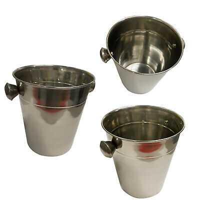Stainless Steel Ice Bucket Cooler Wine Champagne Party Ice Cubes Metal