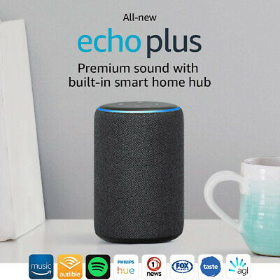 All-new Echo Plus (2nd gen) Premium sound built-in smart home hub CHARCOAL