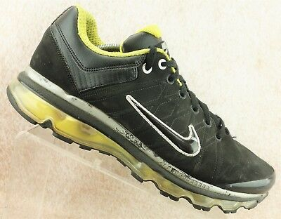 4522fbd53a3 Nike Air Max 2009 Black Gray Yellow Running Athletic Sport Shoes Men s Size  11.5