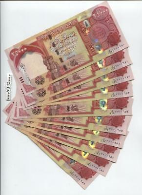 100,000 New Crisp Iraqi Dinar 2014 Hybrid Polymer Uncirculated Serial Numbered