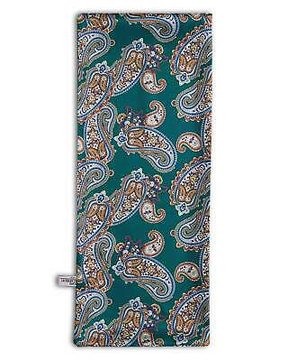 Men's Paisley Scarf In Green Mod Scooter Vintage Scarves 60's Retro S10