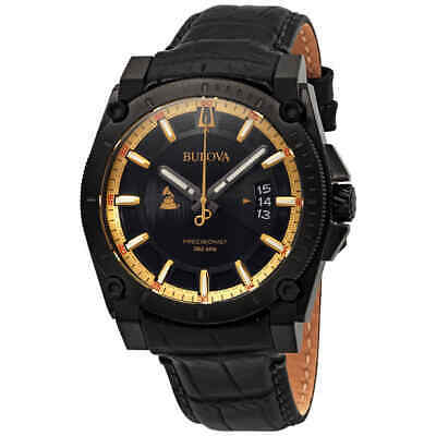 Bulova Precisionist Quartz Black Dial Men's Watch 98B293