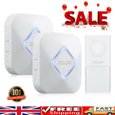 58 Chimes Wireless Doorbell Home Cordless Wall Plug In Ringer 500ft Range Gift