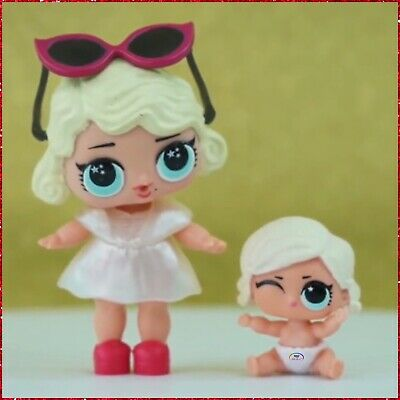 LOL Surprise Lils Series 1 BIG+LIL LEADING BABY Lady SISTERS Set~2 Doll Rare Lot