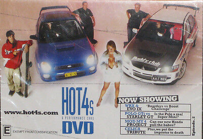 HOT4s & PERFORMANCE CARS DVD Now Showing Episode 2-NEW SEALED