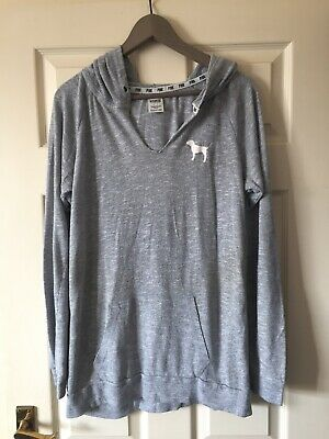 Grey Marl VICTORIAS SECRET PINK Hoodie SIZE S Small