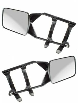 Pair of Convex Caravan Car Extension Towing Mirrors fits Nissan