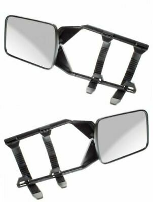 Pair of Convex Caravan Car Extension Towing Mirrors Universal