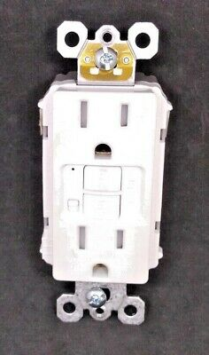 Pass Seymour 1597TRAW Tamper Shutters ALARM GFCI Receptacle WHITE FREE SHIPPING