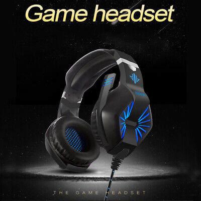 Gaming Headset Stereo Surround Headphone 3.5mm Wired With Mic For PS4 Xbo Laptop