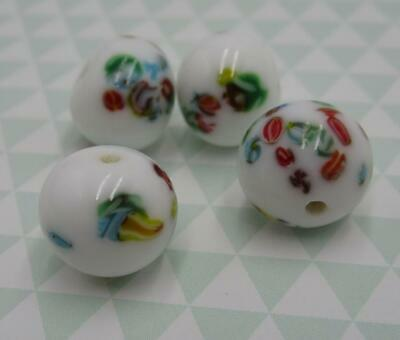 Vintage Glass Teardrop Beads Pear Beads Yellow Tombo Beads 15X9mm From Japan 6pc