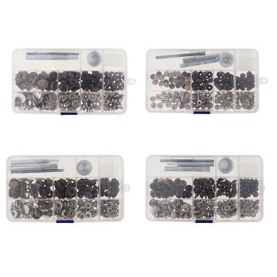 30 Sets Snap Fastener Press Studs Button Leather Bag Jacket Fixing Tool Kit