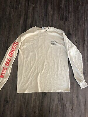 Kanye West Kid Cudi Kids See Ghosts KSG Long Sleeve T Shirt RARE VIRGIL TAKASHI