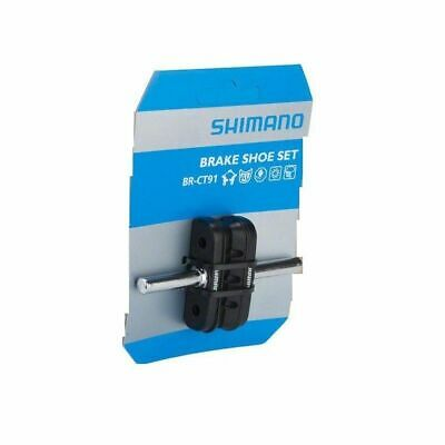 Shimano CT-91 MTB Brake Shoe with Nut & Washer for Cantilever Brake - 10 Pairs