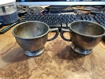 Grand Silver Co. NY WEAR-BRITE Silver cups - Vintage Antique 1940's