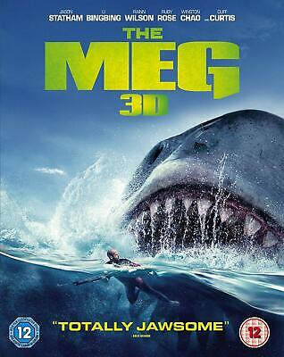 The Meg 3D Blu-ray Jason Statham Li BingBing Rainn Wilson NEW 5051892211888