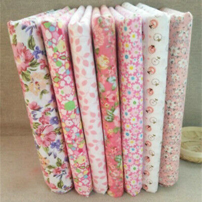 7X Set 50*50cm Fabric Bundle Cotton Patchwork-Sewing Quilting Tissue DIY Cloth
