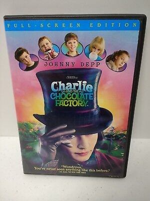Charlie and the Chocolate Factory dvd full screen Tim Burton Johnny Depp