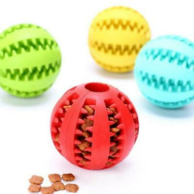 Pet Dog Cat Toys Tooth Clean Ball Training Dental Toy Tough Pet Rubber Toy Ball