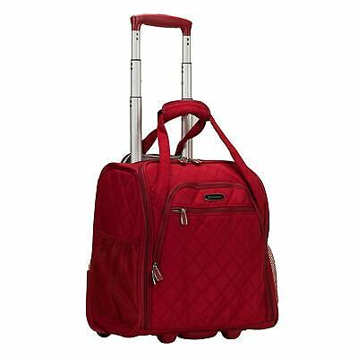 Rockland Wheeled Underseat Carry On Travel Bag One Size Red