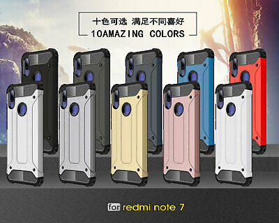 For Xiaomi Redmi Note 7, Rugged Hybrid Armor Shockproof Hard PC +Soft Cover Case