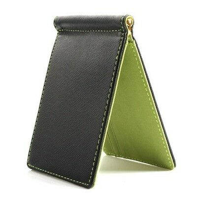 Faux Leather Slim Mens Credit Card Wallet Money Clip Contract Color Simple  O1O2