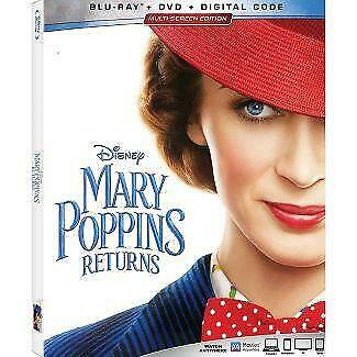 Mary Poppins Returns Blu-ray / DVD Combo Free Shipping PreOrder Release 03/19