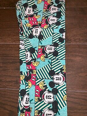 BNWT LuLaRoe Disney Tween Leggings Mickey Mouse Clubhouse Party Mint Green