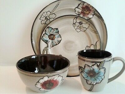Pfaltzgraff Painted Poppies Stoneware