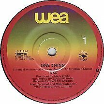 """INXS """"One Thing"""" 1982 WEA Oz 7"""" 45rpm"""