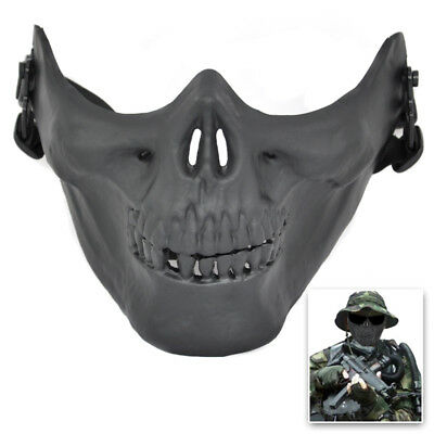 Airsoft Mask Skull Skeleton Airsoft Paintball Half Face Protect Airsoft Mas O4P7