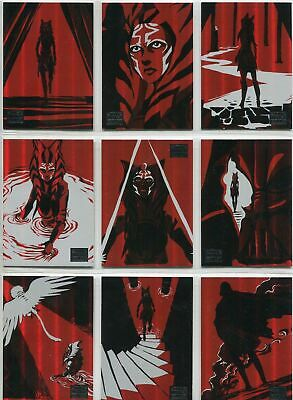 Star Wars - Galaxy 2018 - Journey Of Ahsoka - Complete 10 Card Chase SET - NM